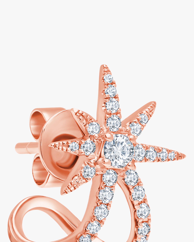 Graziela Gems Rose Gold Starburst Ear Cuffs 2