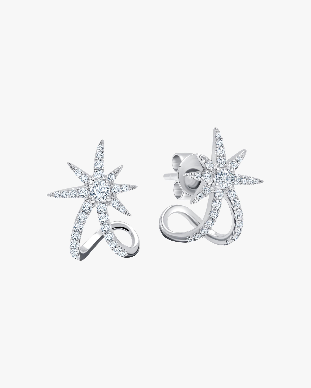 White Gold Starburst Earrings