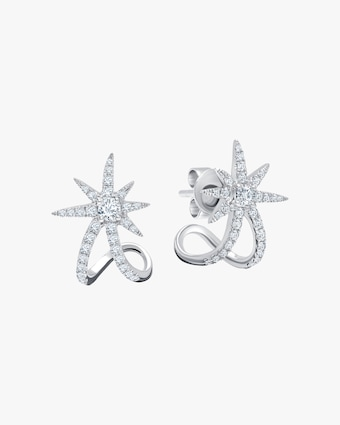 Graziela Gems White Gold Starburst Earrings 1