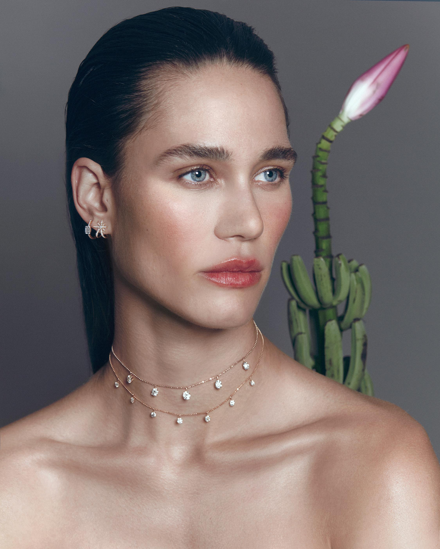 Graziela Gems White Gold Starburst Earrings 1