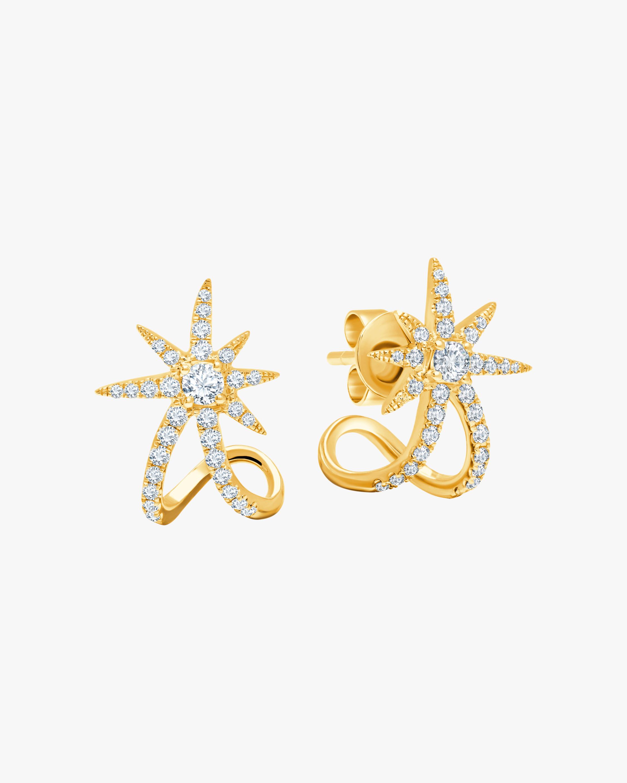 Graziela Gems Yellow Gold Starburst Earrings 1