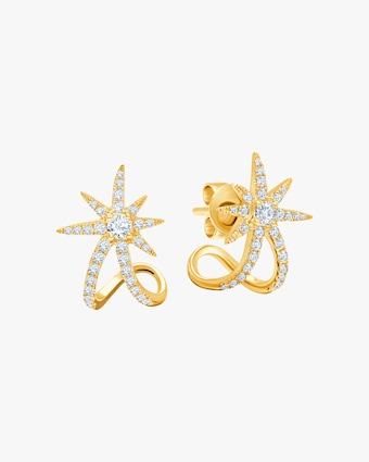 Graziela Gems Yellow Gold Starburst Earrings 1