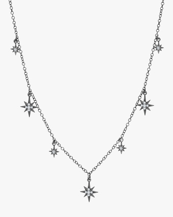 Graziela Gems Black Gold Starburst Station Necklace 1