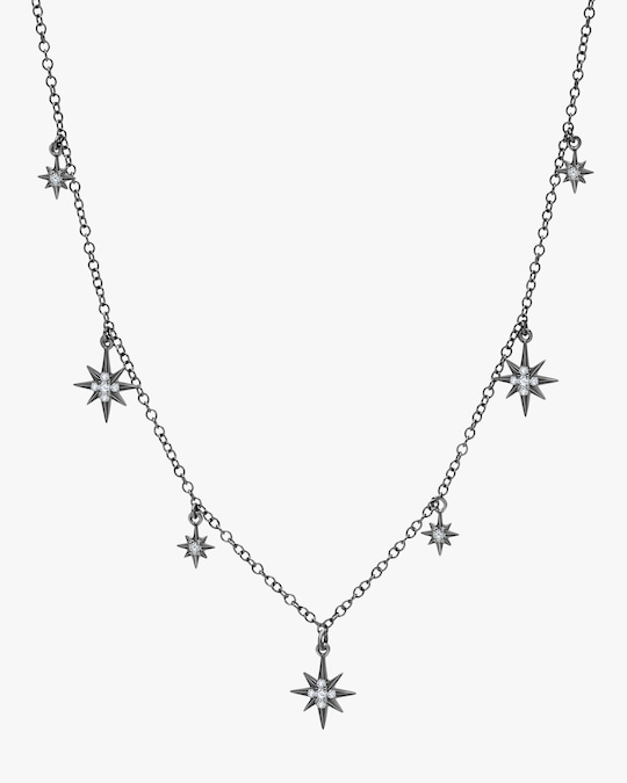 Graziela Gems Black Gold Starburst Station Necklace 0