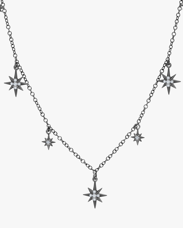 Graziela Gems Black Gold Starburst Station Necklace 2