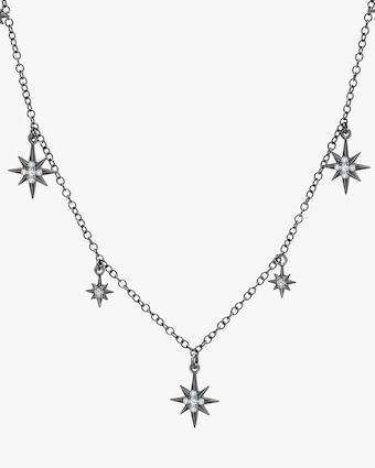Graziela Gems Black Gold Starburst Station Necklace 2