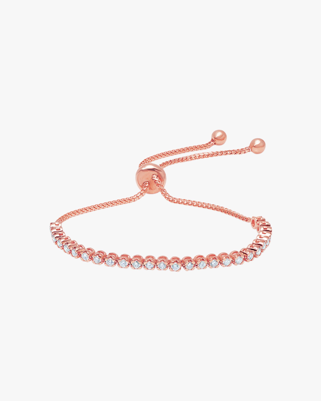 Graziela Gems Rose Gold Diamond Bolo Bracelet 1