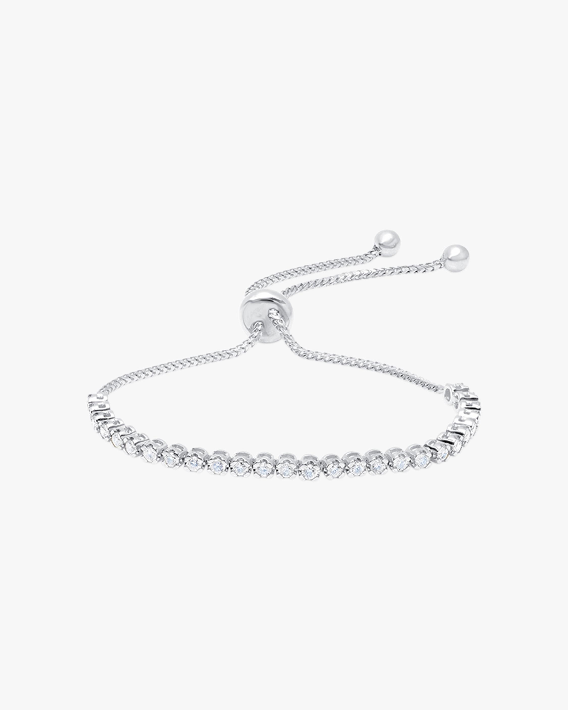 Graziela Gems White Gold Diamond Bolo Bracelet 1