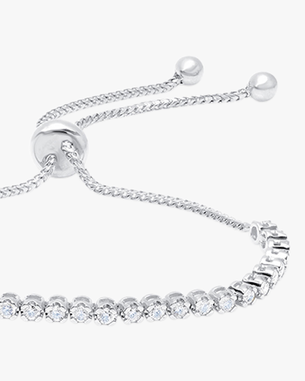 Graziela Gems White Gold Diamond Bolo Bracelet 2