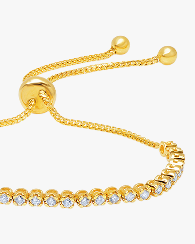 Graziela Gems Yellow Gold Diamond Bolo Bracelet 1