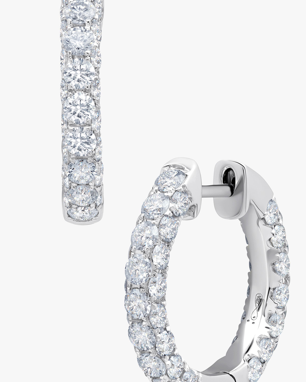 Graziela Gems Diamond Three-Sided Hoop Earrings 1