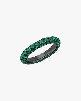 Graziela Gems Emerald Three-Sided Band 1