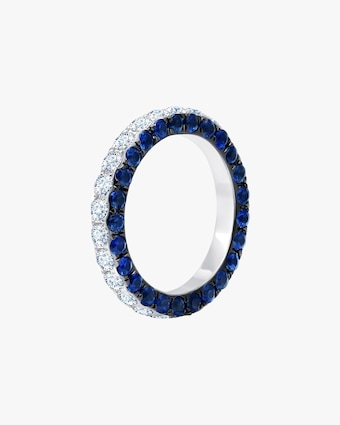 Graziela Gems Sapphire & Diamond Three-Sided Band 1
