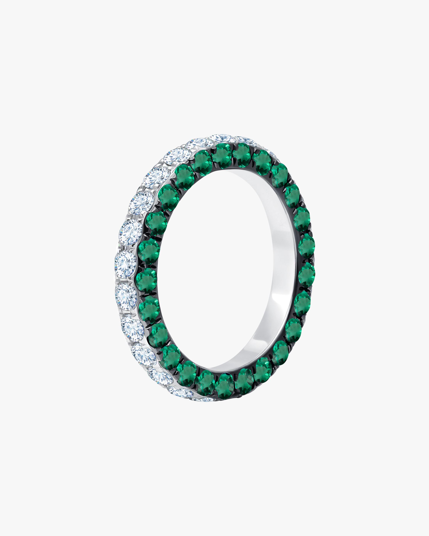 Graziela Gems Emerald & Diamond Three-Sided Band 1