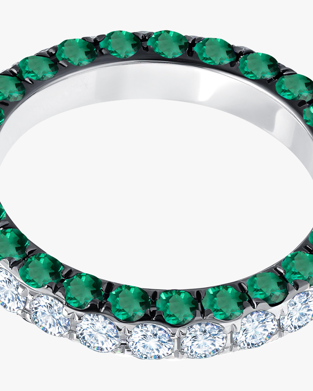Graziela Gems Emerald & Diamond Three-Sided Band 2