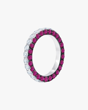 Graziela Gems Ruby & Diamond Three-Sided Band 1
