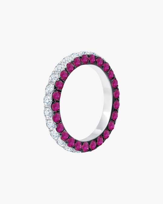 Graziela Gems Ruby & Diamond Three-Sided Band 0