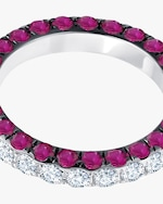 Graziela Gems Ruby & Diamond Three-Sided Band 2