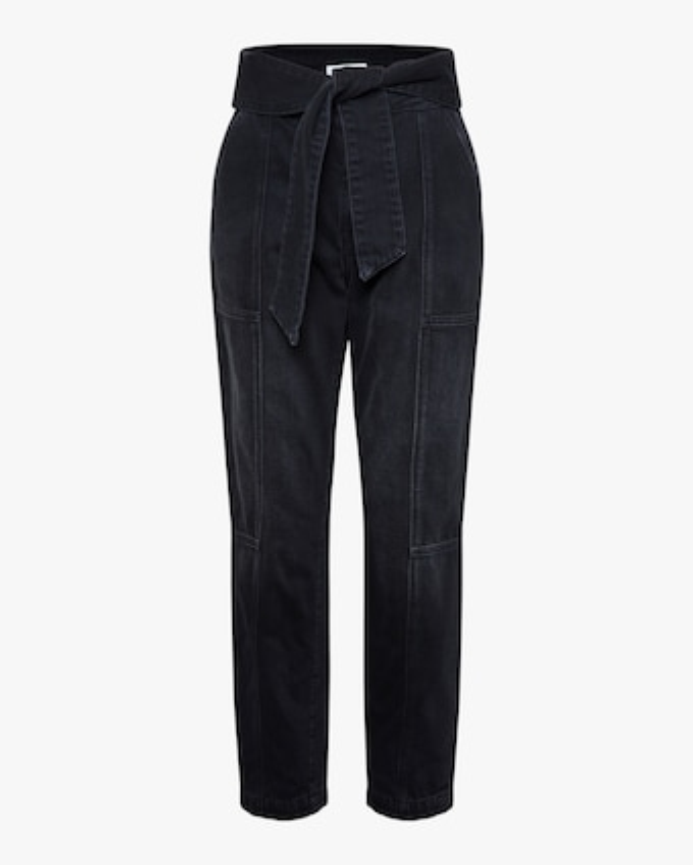 Jonathan Simkhai STANDARD Henley Tie-Waist Straight Pants 1