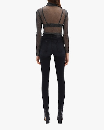 Jonathan Simkhai STANDARD Charli Sheer Turtleneck Top 2