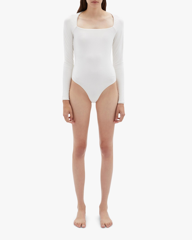 Jonathan Simkhai STANDARD Marlowe Long-Sleeve Bodysuit 1