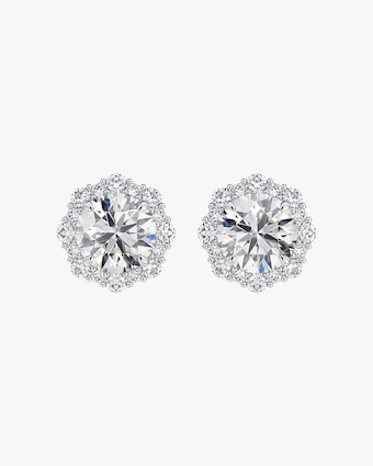 Forevermark Center of my Universe Floral Halo Diamond Stud Earrings 1