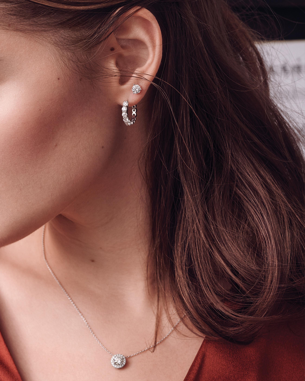 Forevermark Classic .5 Carat Three-Prong Diamond Stud Earrings 2
