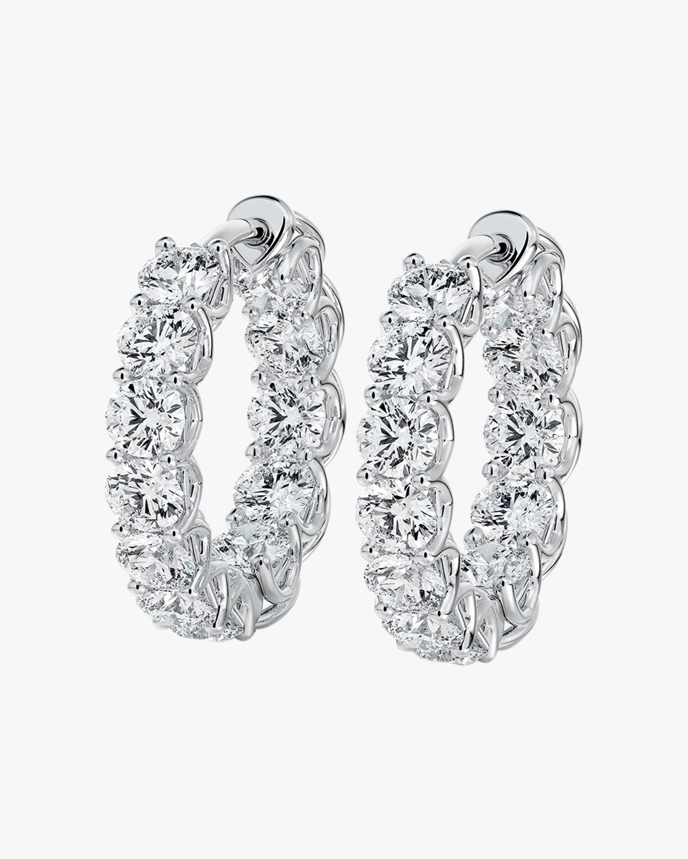Forevermark Small Inside-Outside Diamond Hoop Earrings 1