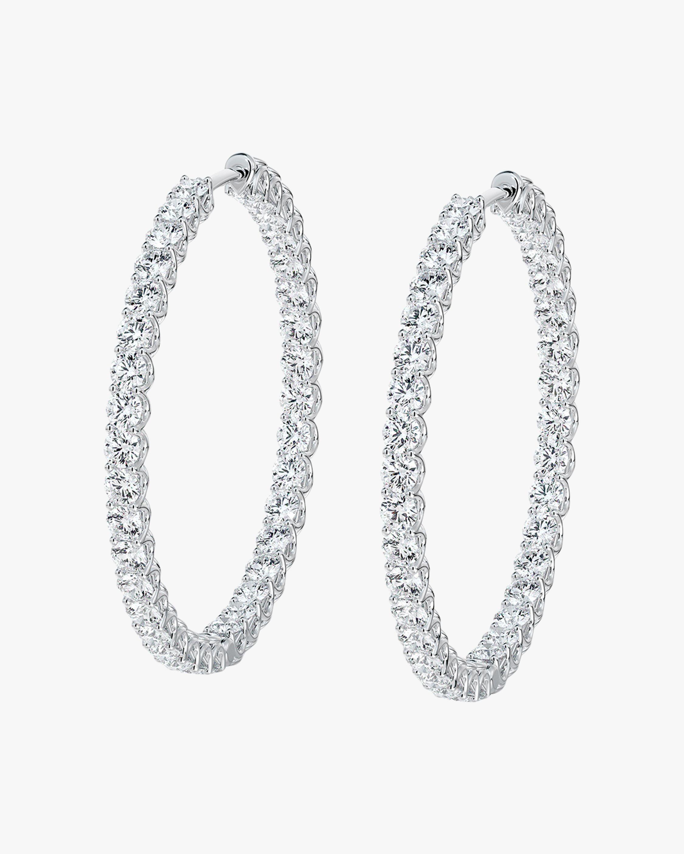 Forevermark Large Inside-Outside Diamond Hoop Earrings 1