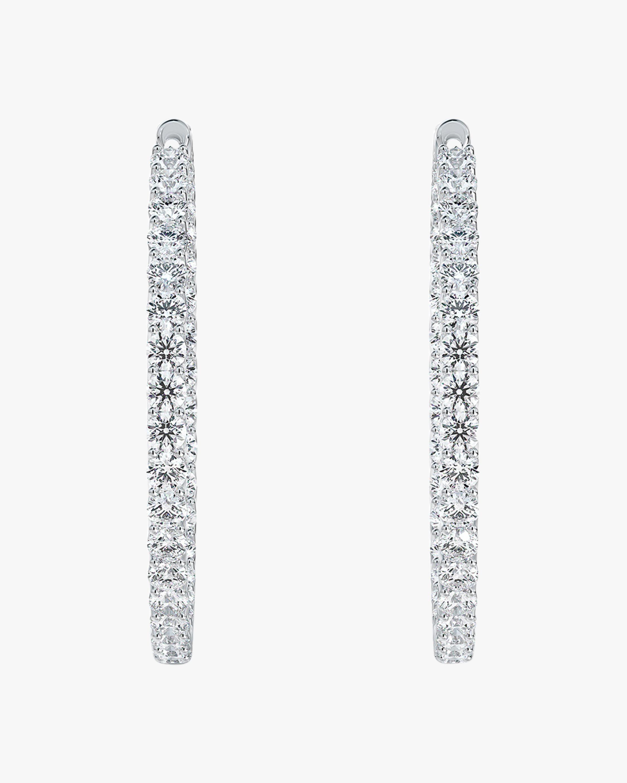 Forevermark Large Inside-Outside Diamond Hoop Earrings 2