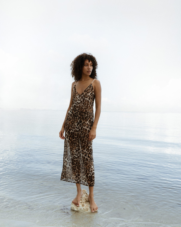 Sara Cristina Pearl Leopard Dress 1