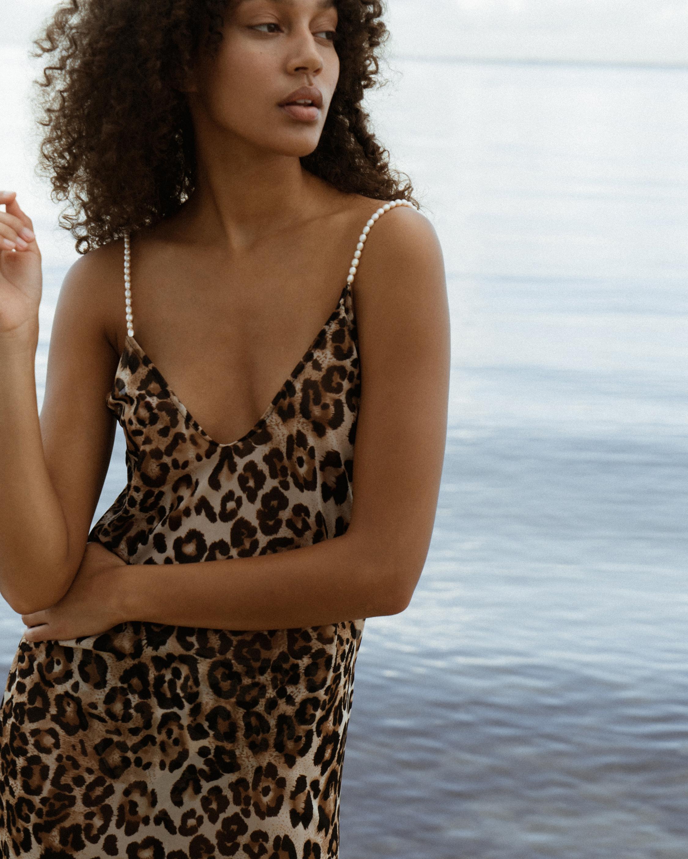 Sara Cristina Pearl Leopard Dress 2