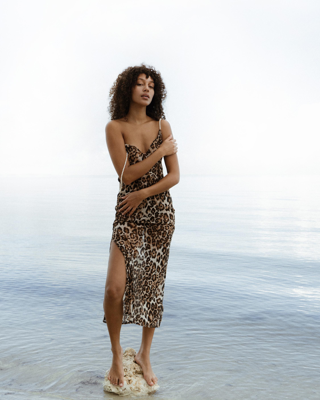 Sara Cristina Pearl Leopard Dress 3