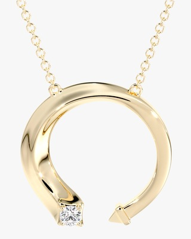 De Beers Forevermark Gold & Diamond Pendant Necklace 1