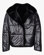 HEURUEH Faux Fur Reversible Moto Jacket 0