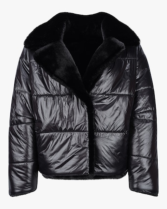 HEURUEH Faux Fur Reversible Moto Jacket 1
