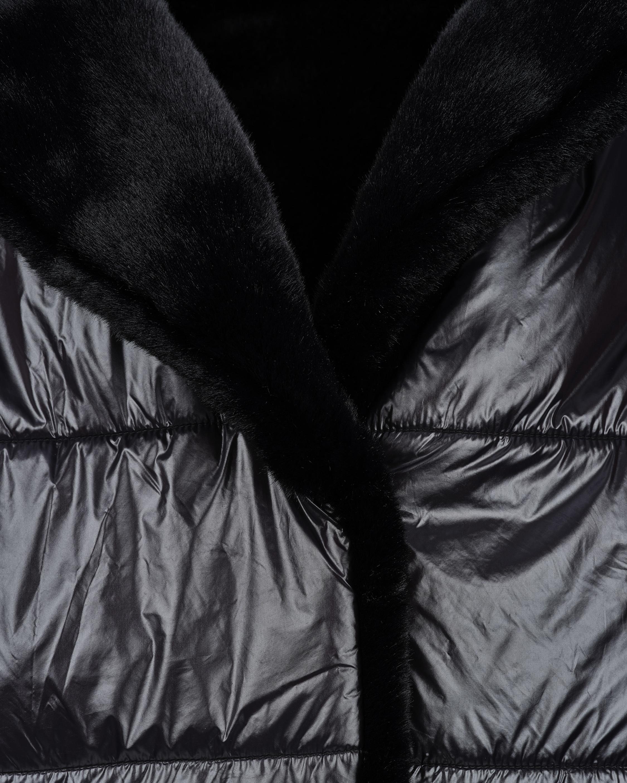 HEURUEH Faux Fur Reversible Moto Jacket 2