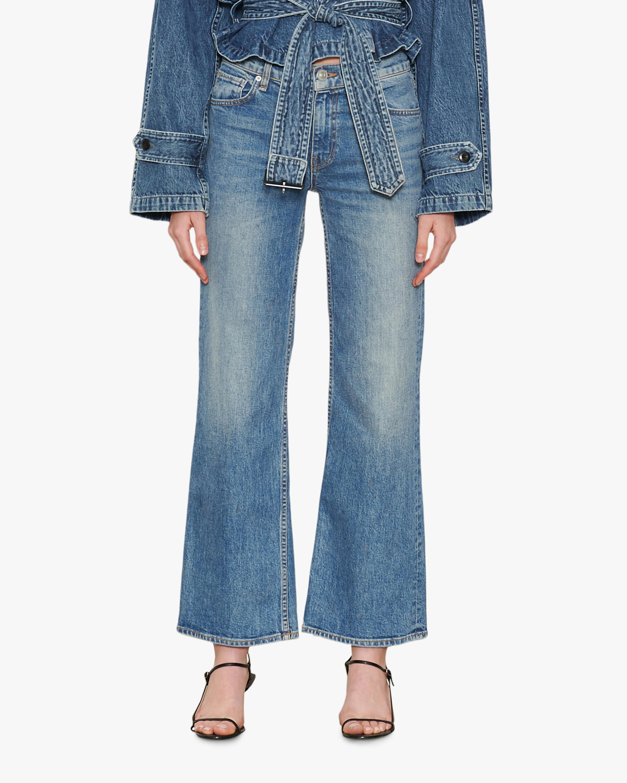 Hudson Rosie High-Rise Wide-Leg Jeans 0