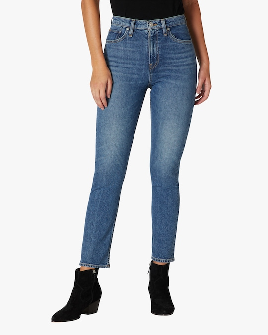 Hudson Holly High-Rise Straight Crop Jeans 1