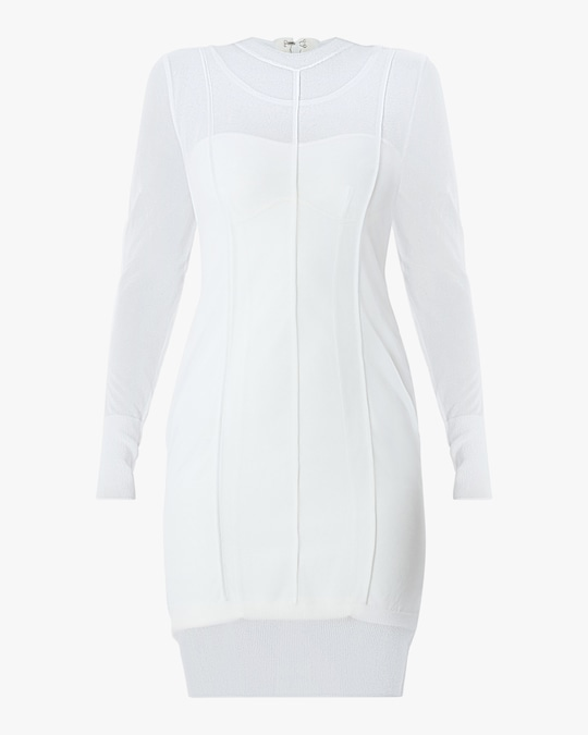Herve Leger Layered Crewneck Dress 0