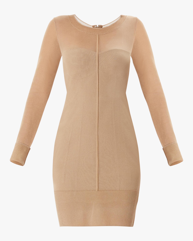 Herve Leger Layered Scoop-Neck Dress 1