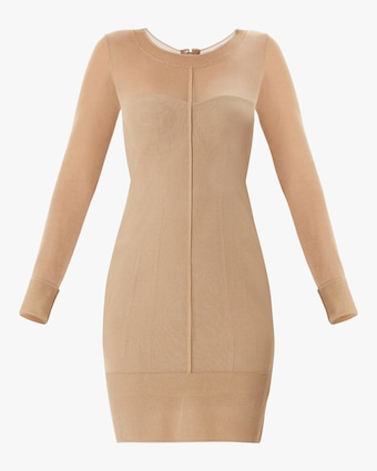 Herve Leger Layered Scoop Neck Dress 1