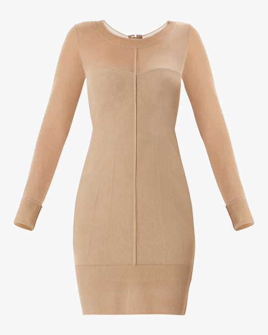 Herve Leger Layered Scoop-Neck Dress 0