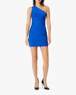 Herve Leger One-Shoulder Asymmetrical Mini Dress 1