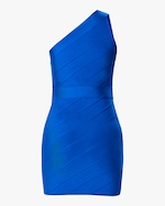 Herve Leger One-Shoulder Asymmetrical Mini Dress 3