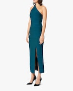 Herve Leger Asymmetrical One-Shoulder Midi Gown 3