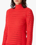 Herve Leger Geometric Pointelle Top 5