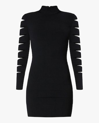 Herve Leger Cutout Long Sleeve Mini Dress 1