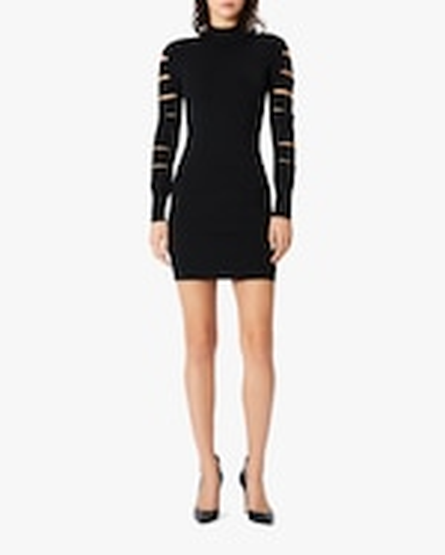 Herve Leger Cutout Long-Sleeve Mini Dress 2
