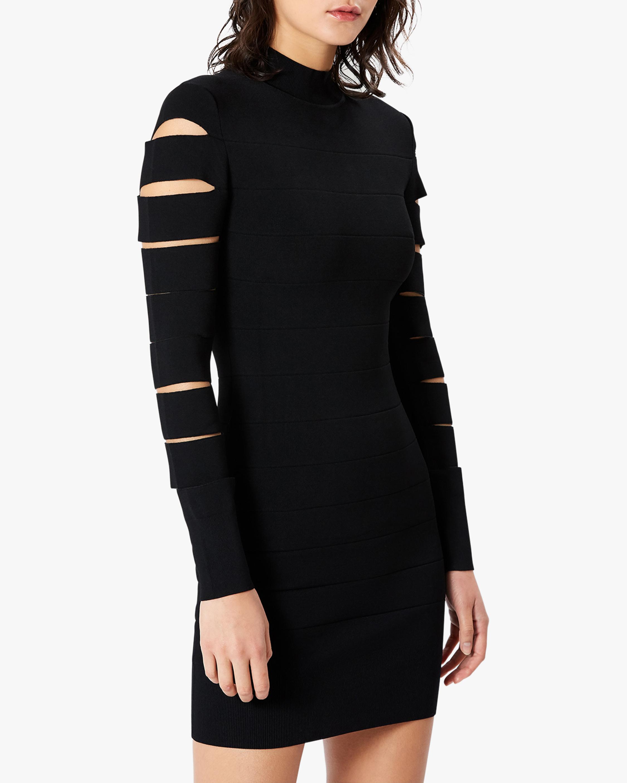 Herve Leger Cutout Long-Sleeve Mini Dress 5